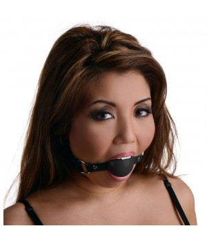 Black Silicone Ball Gag