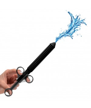 Ribbed Silicone Lubricant Launcher